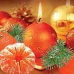 Мандарины на новогоднем столе